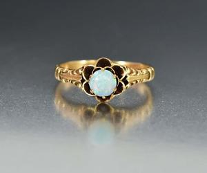 antique, ring, and opal image