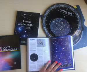 astronomy, books, and moon image