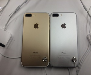gold, iphone, and silver image