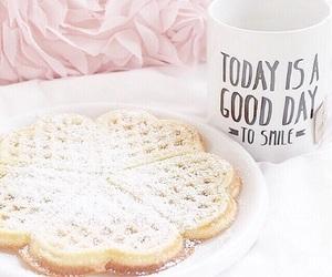 waffles, food, and pink image