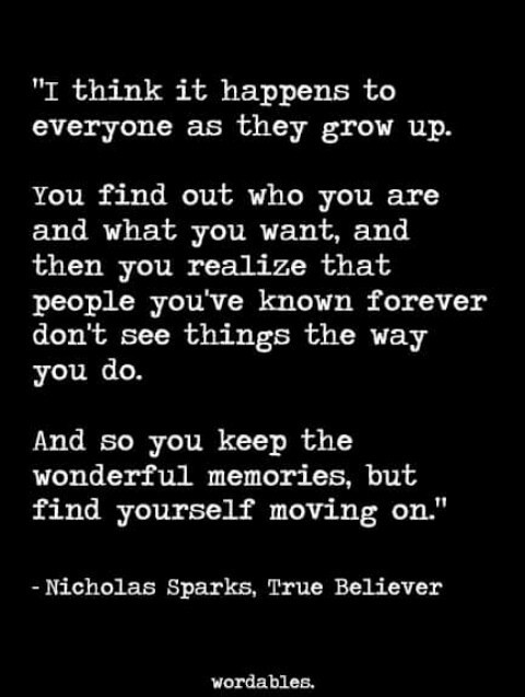 Quotes about growing up and moving on