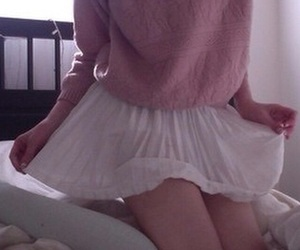 pale, girl, and pink image