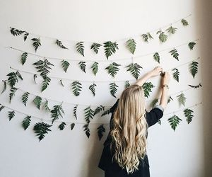 girl, decor, and hair image