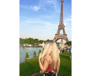 eiffel tower, trocadero, and hairstyle image
