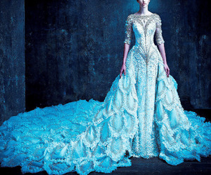 ball gown, bridal, and elegant image