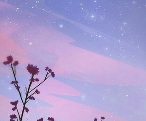 stars, wallpaper, and flowers image