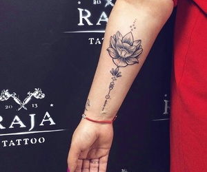 big, flower, and tattoo image