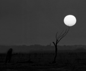 b&w, black&white, and full moon image