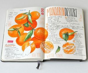 journal, art, and orange image