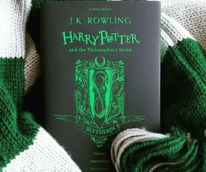 book, green, and harry potter image