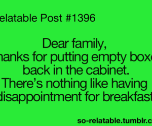 breakfast, family, and funny image