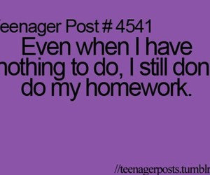 homework, funny, and posts image
