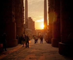 egypt, luxor, and sunrise image