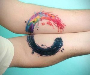tattoo, colors, and couple image