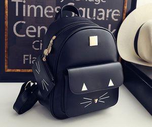 bag, black, and backpack image
