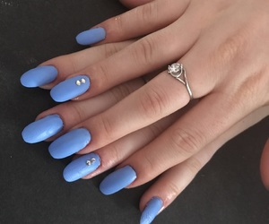 blue, matte, and nails image