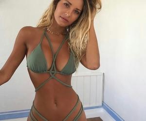 bikini, fitness, and style image