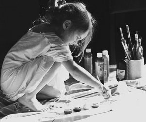 art, kids, and paint image