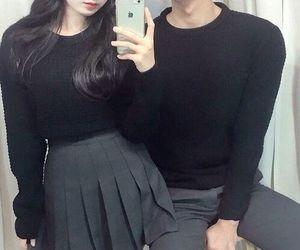 couple, black, and ulzzang image