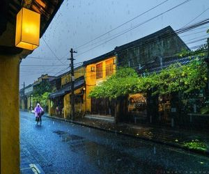 peaceful, rain, and vietnamese image