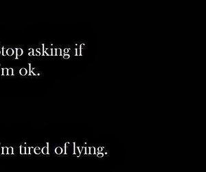 quotes, sad, and lying image