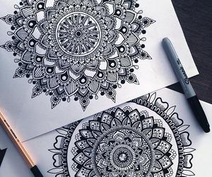 art, boho, and drawings image