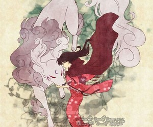 inuyasha, rin, and sesshomaru image