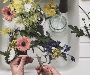 flowers, aesthetic, and flores image