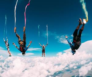 Action, diving, and skydive image