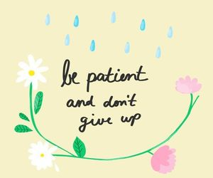quotes, flowers, and don't give up image