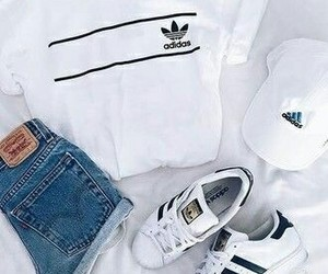 adidas, outfit, and white image