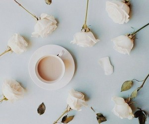 blossoms, morning, and coffee image