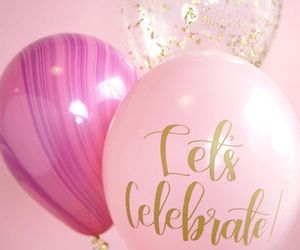 balloons, celebrate, and birthday image