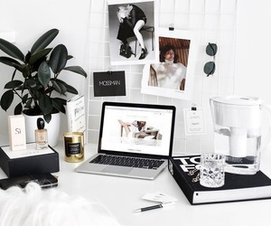 accessories, bedroom, and black and white image