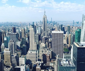 city, empire state building, and the big apple image