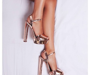 gold, heels, and legs image