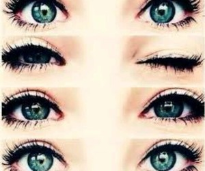 yeux, yeux bleu, and yeux verts image