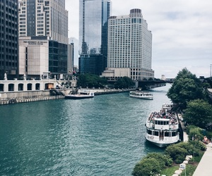 blue, chicago, and city image