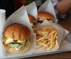 food, yummy, and burger image