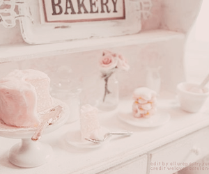 pink, cake, and flowers image