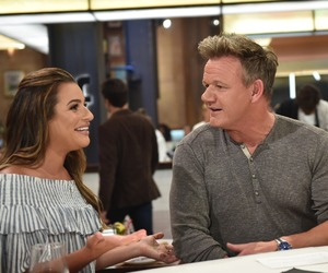 gordon ramsay, lea michele, and the f word image