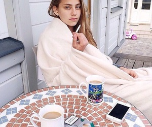 girl, indie, and coffee image
