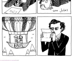 Edgar Allen Poe, french, and jules verne image