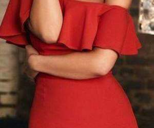 red, chic, and dress image