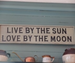 love, moon, and sun image