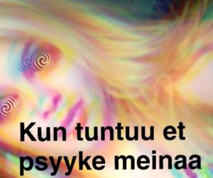 finnish, psykoosi, and tunne image