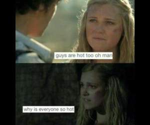 bellamy, clarke, and the 100 image