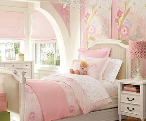 bed, bedroom, and inredning image