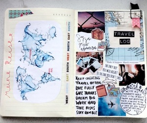 creative, diary, and exchange image