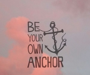 anchor, clouds, and pink image